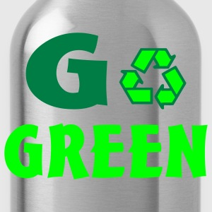 Bright green go green T-Shirts - Water Bottle