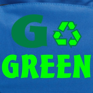 Kelly green go green Kids' Shirts - Computer Backpack