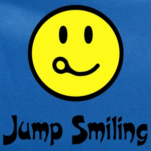 Royal blue Jump Smiling T-Shirts - Computer Backpack