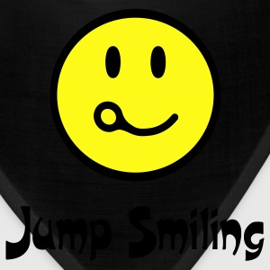 Royal blue Jump Smiling T-Shirts - Bandana
