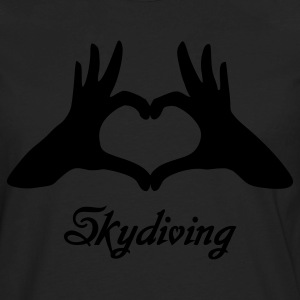 Black Love Skydiving Women's T-Shirts - Men's Premium Long Sleeve T-Shirt