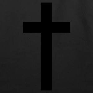 Black a simple cross Women's T-Shirts - Eco-Friendly Cotton Tote