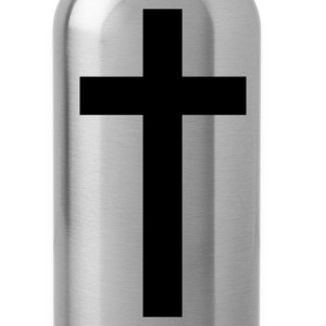 Black a simple cross Women's T-Shirts - Water Bottle