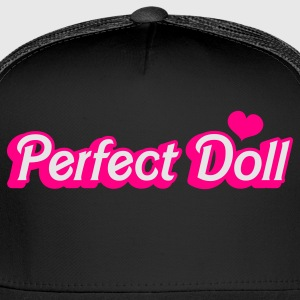 Black perfect doll in barbie like font Women's T-Shirts - Trucker Cap