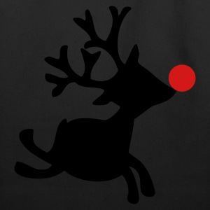 Black rudolph the red nosed reindeer right Women's T-Shirts - Eco-Friendly Cotton Tote