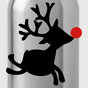Black rudolph the red nosed reindeer right Women's T-Shirts - Water Bottle