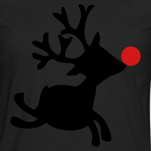Black rudolph the red nosed reindeer right Women's T-Shirts - Men's Premium Long Sleeve T-Shirt