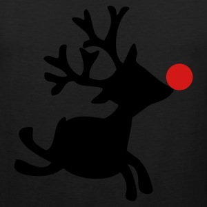 Black rudolph the red nosed reindeer right Women's T-Shirts - Men's Premium Tank