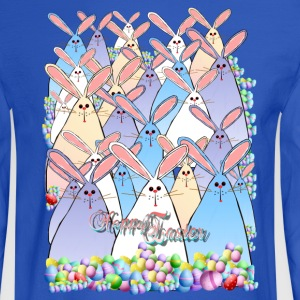 Happy Easter Bunnies Lettered - Men's Long Sleeve T-Shirt
