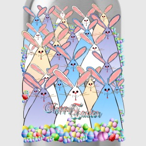 Happy Easter Bunnies Lettered - Water Bottle