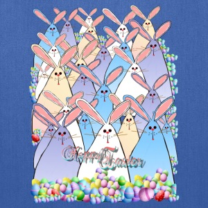 Happy Easter Bunnies Lettered - Tote Bag