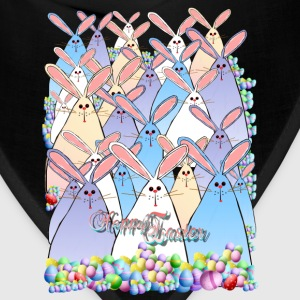 Happy Easter Bunnies Lettered - Bandana