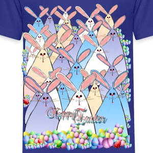 Happy Easter Bunnies Lettered - Toddler Premium T-Shirt