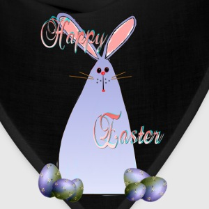 Purple Easter Bunny Lettered - Bandana