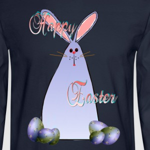 Purple Easter Bunny Lettered - Men's Long Sleeve T-Shirt