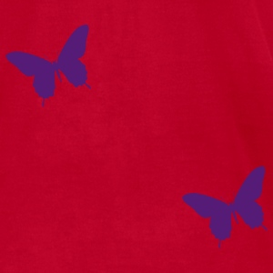Butterflies and Flowers - Men's T-Shirt by American Apparel
