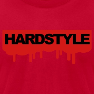 Red Hardstyle Drips V2 Sweatshirts - Men's T-Shirt by American Apparel