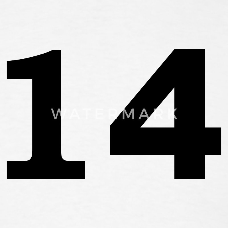 White number - 14 - fourteen T-Shirts - Men's T-Shirt