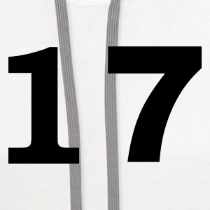 White number - 17 -seventeen T-Shirts - Contrast Hoodie