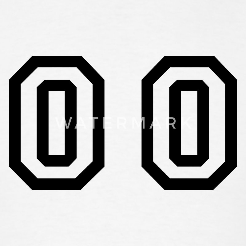 White number - 00 - double zero T-Shirts - Men's T-Shirt