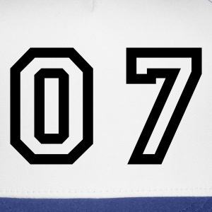 White number - 07 - zero seven T-Shirts - Trucker Cap