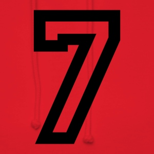 Red number - 7 - seven T-Shirts - Women's Hoodie