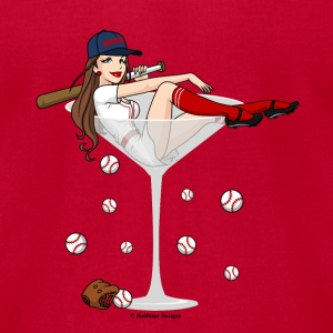 Boston Girl Martini  L/S Jersey Tee - Men's T-Shirt by American Apparel
