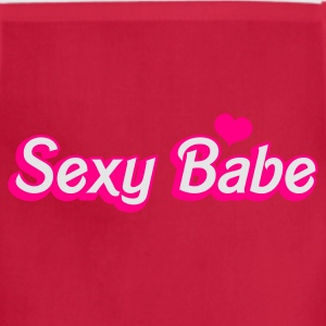 Fuchsia sexy babe in popular doll font Tanks - Adjustable Apron