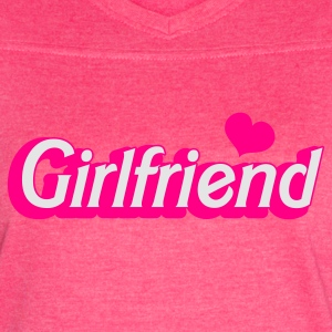 Fuchsia girlfriend in barbie type Tanks - Women's Vintage Sport T-Shirt