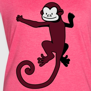 Fuchsia monkey on the back Tanks - Women's Vintage Sport T-Shirt