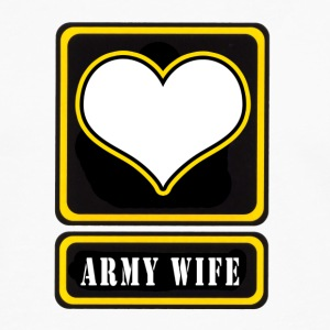 White US Army Wife Logo Women's T-Shirts - Men's Premium Long Sleeve T-Shirt