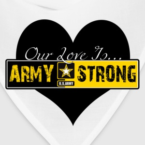 Heather grey Our Love Is Army Strong Women's T-Shirts - Bandana