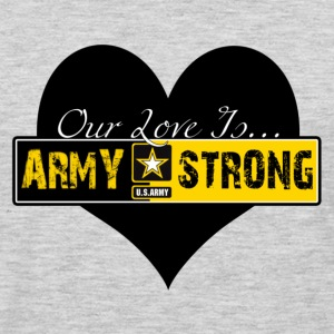 Heather grey Our Love Is Army Strong Women's T-Shirts - Men's Premium Long Sleeve T-Shirt