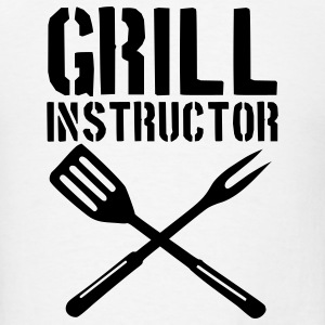 White Grill - barbecue Buttons - Men's T-Shirt