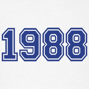 White 1988 Buttons - Men's T-Shirt