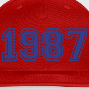 Red 1987 Women's T-Shirts - Snap-back Baseball Cap