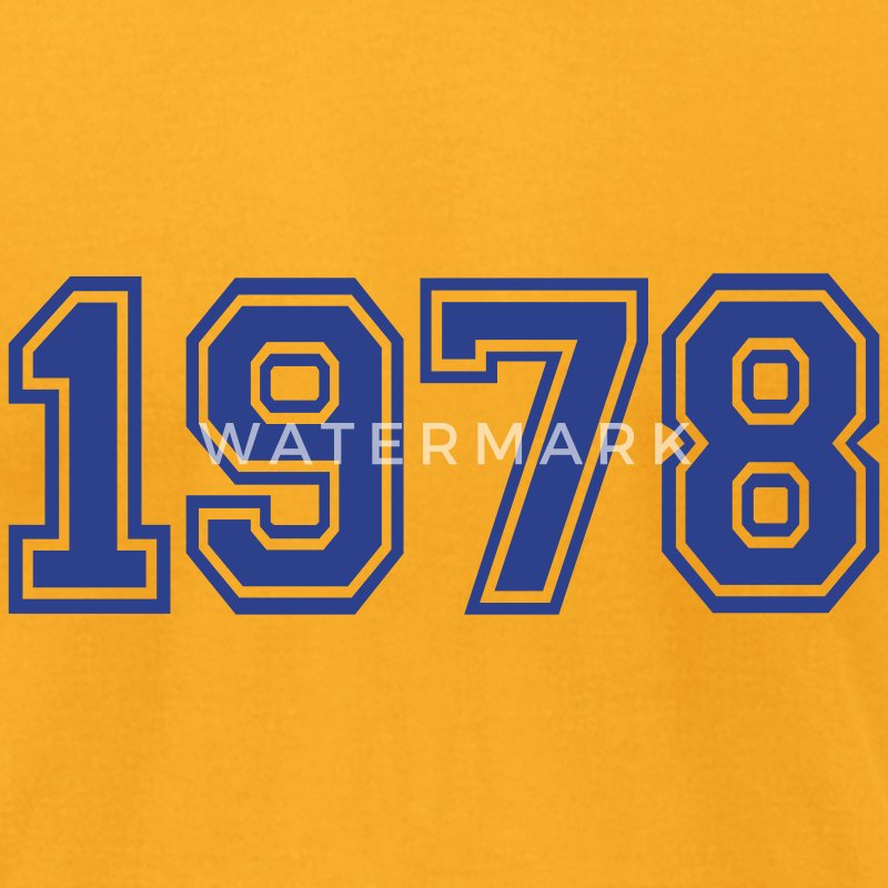 Gold 1978 T-Shirts - Men's T-Shirt by American Apparel