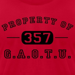 Red Property of G.A.O.T.U. 357 Hoodies - Men's T-Shirt by American Apparel