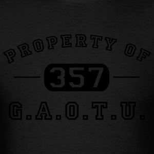 Black Property of G.A.O.T.U. 357 Hoodies - Men's T-Shirt