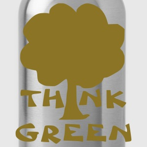 Bright green think green T-Shirts - Water Bottle