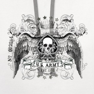 White US ARMY T-Shirts - Contrast Hoodie