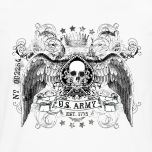 White US ARMY T-Shirts - Men's Premium Long Sleeve T-Shirt