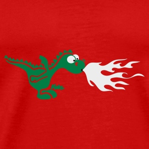 Red Fire Dragon Caps - Men's Premium T-Shirt