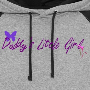 Ladies Daddy's little girl V Neck T shirt - Colorblock Hoodie