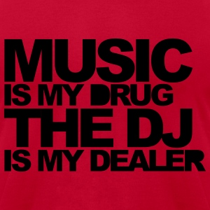 Red Music Is My Drug V3 Hoodies - Men's T-Shirt by American Apparel