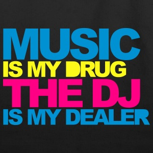 Black Music Is My Drug V4 Women's T-Shirts - Eco-Friendly Cotton Tote