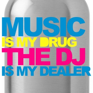 Black Music Is My Drug V4 Women's T-Shirts - Water Bottle