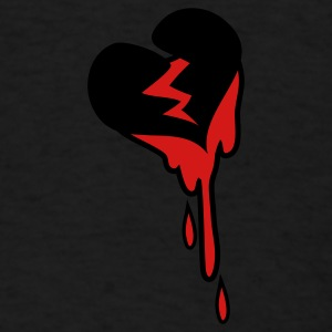 Black heart broken and bleeding Caps - Men's T-Shirt