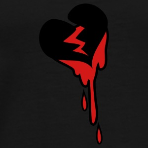 Black heart broken and bleeding Caps - Men's Premium T-Shirt