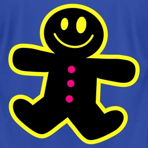 Royal blue ginger bread man cute ! Hoodies - Men's T-Shirt by American Apparel